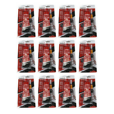 12pcs Red High Temperature RTV Silicone Gasket Maker Sealant for Auto B&I