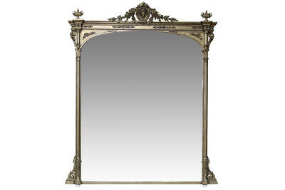 A large and beautiful mid 19th Century overmantle mirror.