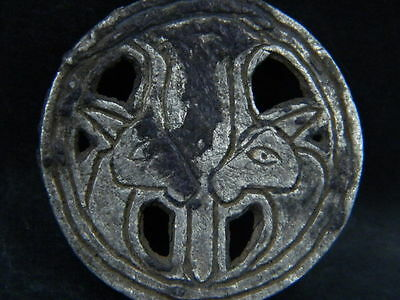 Ancient Silver Pendant With Ibex Bactrian 300 BC No Reserve #STC415