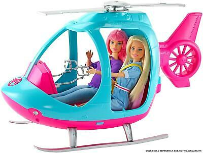 Barbie Helicopter Pink and Blue with Spinning Rotor FWY29