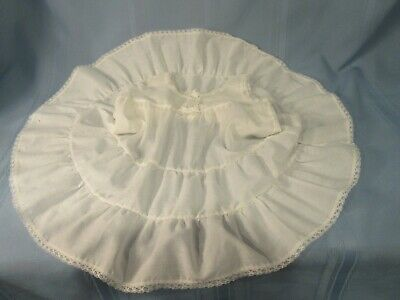 vintage toddler slip size 2-3 full circle skirt ruffly very good condition