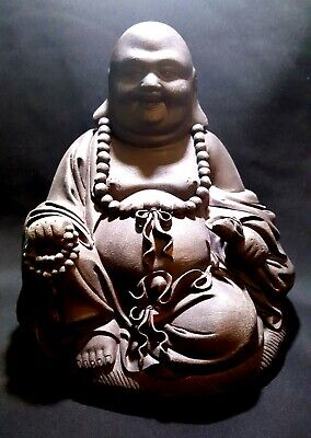 Chinese Yixing Buddha Signed