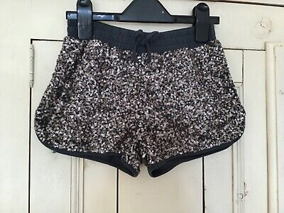 2 Pairs of Girls Sequin Shorts in Pink & Grey, Age 7-8