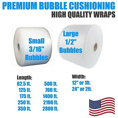 "Packing Bubbles 1/2"" or 3/16"" Bubble 12"" or 24"" Wide Wrap Cushion Protection"