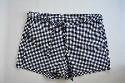 NWOT Old Navy Black White Gingham Women's Plus Size 18 Belted Shorts
