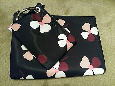 Nwot Kate Spade Dawn Double Pouch Cosmetic 2 Piece Set Dusk Buds