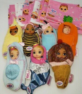 Zapf Baby Born Surprise Lot of 7 Bee Mermaid Duck Butterfly Carrot Lot
