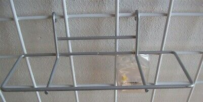 Store Display Fixtures NEW GRIDWIRE ACRYLIC METAL SILVER SHOE DISPLAY