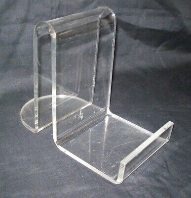 "Store Display Fixtures 10 NEW HEAVY DUTY ACRYLIC 1/4"" EASELS 6"" tall"