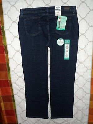 Nwt Riders By Lee Women's 16M~Mid~Rise Stretch Straight Leg~Antique Dark Jeans