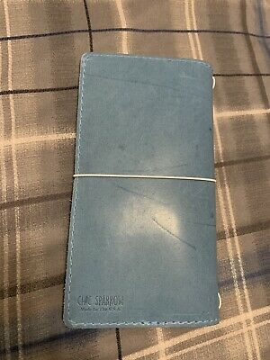 Chic Sparrow Classic Mockingbird Leather Notebook Cover - Blue Jay
