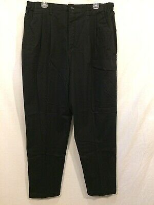 Lee Womens Side Elastic Pants Size 22W M Black Tapered Leg Style 4823601 NWT
