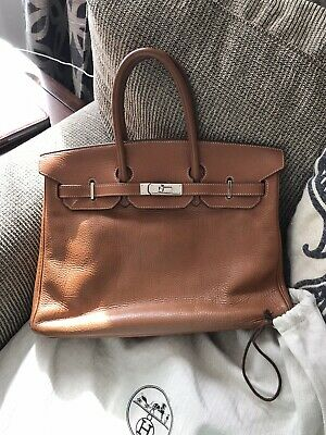 Authentic Hermes Birkin Clemence Leather