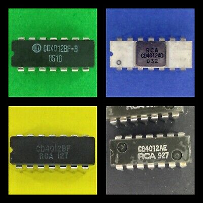 Get It Fast 5 x CD4012BE CD4012 4012 DUAL 4-Input NAND GATE IC USA Seller