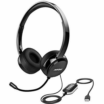 Mpow 071 B Headset w/ 3.5mm Jack Computer Wired Headphones for PC Skype Phone