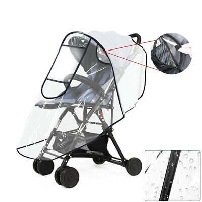 Universal Rain Cover for Pushchair Stroller Buggy Pram Carrycot Transparent UK