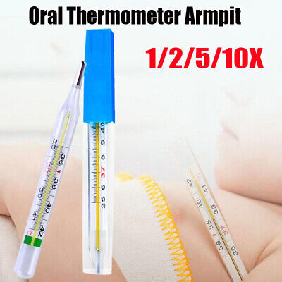 Oral Glass Thermometer Household Clinical Medical Body Temperature Measurement