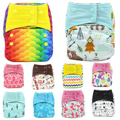 Reusable Cloth Nappy Washable Baby Pocket Diaper Adjustable Cover Wrap 3-15KG