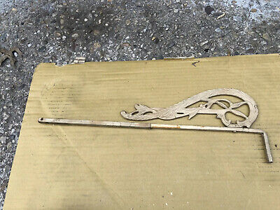 VINTAGE ART DECO  SWING ARM CURTAIN ROD Victorian For Parts Only