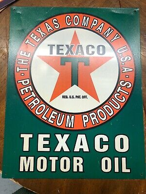 "Texaco Marine Motor Oil Pump Boat Shop Man cave Metal Sign Repro 9x12/"" 60384"
