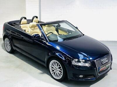Audi A3 Sport Convertible 2.0 Tdi Manual Diesel Blue 2008 Cab Cabriolet Sline