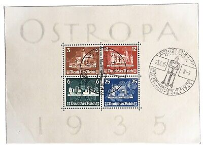 Germany Third Reich 1935 International Philatelic Exhibition Ostropa Block 3 CTO