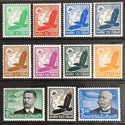 Germany Third Reich 1934 Golden Eagle over Globe + Lilienthal & Zeppelin MLH
