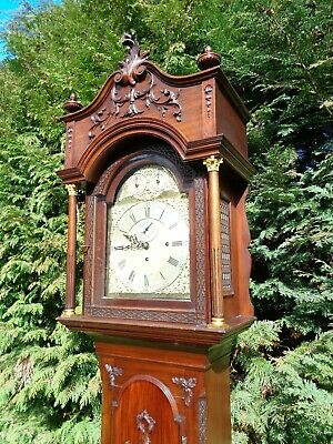 Antique Musical Longcase Clock For Restoration Mahogany Victorian Grandfather