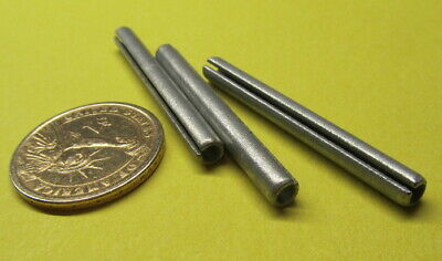 "Zinc Plate Steel, Slotted Roll Spring Pin, 3/16"" Dia x 1.875"" Length, 100 pcs"