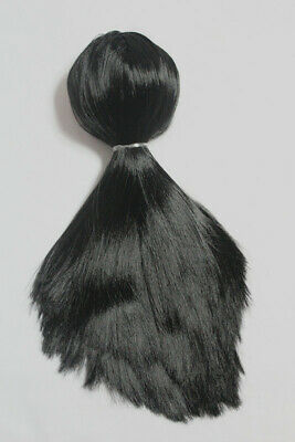 "12/"" Neo Blythe doll Hair from Factory Long hair scalp with dome straight Black"