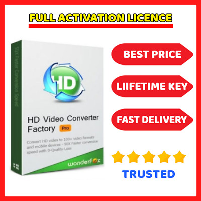 Wonderfox HD Video Converter Factory Pro 18.7 🔑 Genuine Lifetime License key ⭐
