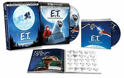 E.T Extra-Terrestrial Limited Edition 4K+Blu-ray+CD+Digital+LENTICULAR SLIP BOX