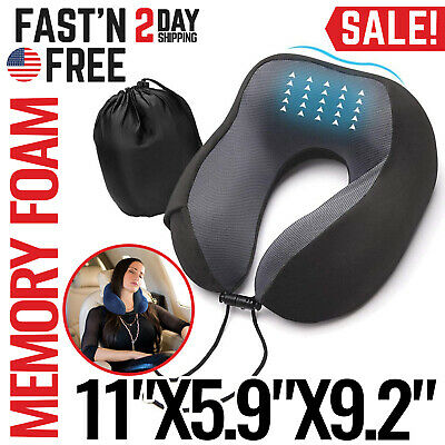 Travel Neck Pillow Inflatable Airplane Car Pillow Neck Support Head Rest Flights
