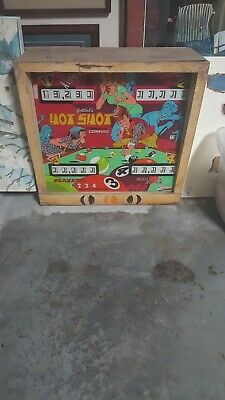 2 Vintage Gottlieb Hot Shot Scoreboard and Glass Sections 1 glass 1 without