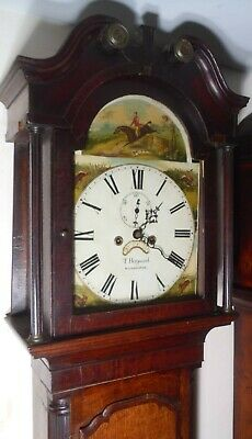 "Antique Oak  Hunting Dial "" Winchester ""  Longcase / Grandfather Clock"