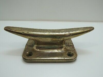Old 12 inch Long Bronze Dock Boat Cleat -(D3A487)