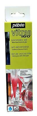 Pebeo Vitrea 160 Frosted Discovery Collection Glass Paints 6 x 20ml