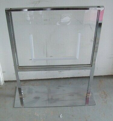 "Store Fixture Supplies FLOOR SIGN HOLDER CHROME FINISH 27"" tall"
