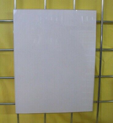 """Store Display Fixtures 2 NEW ACRYLIC GRIDWIRE SIGN HOLDERS 8½"""" W x 11"""" H"""
