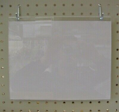 "Store Display Fixtures 2 NEW ACRYLIC WALL MOUNT SIGN HOLDERS 7"" HIGH X 11"" WIDE"
