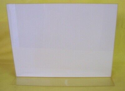 """Store Display Fixtures 2 NEW ACRYLIC TOP LOAD SIGN HOLDER 11"""" WIDE X 9"""" HIGH"""