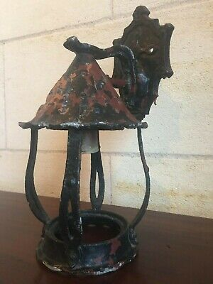 Antique Medieval Metal Wall Sconce Electric Light