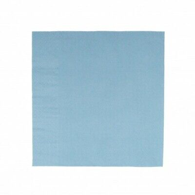 NEW Light Blue 1 Ply Paper Luncheon Napkins - 150mm - 300x300 Unfolded