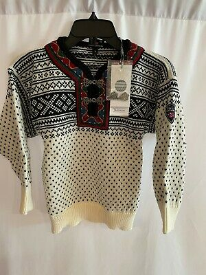 Dale of Norway Kids Setesdal Sweater Wool NWT Size 10 Ivory Black