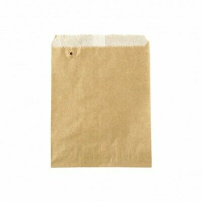 NEW Brown Greaseproof Lined Paper Bags - 115mm - 160mm - PACKET(500)