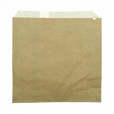 NEW Brown Greasproof Lined Paper Bags - 200mm - 200mm - PACKET(500)