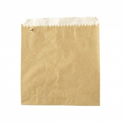 NEW Brown Grease Proof Lined Paper Bags - 140mm - 160mm - PACKET(500)