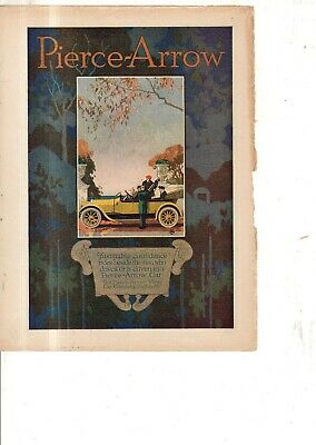 1915 Pierce Arrow Touring Car Original color ad from Literary Digest