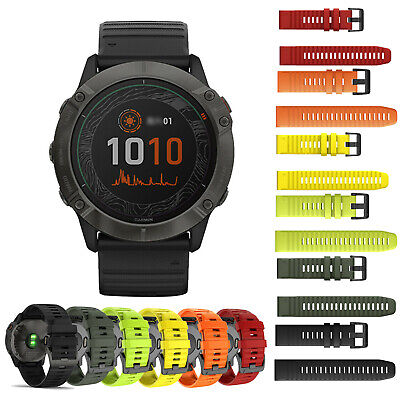 Quick Fit Silicone Watch Band Strap for Garmin Fenix 6X/6 Pro 3HR/5/5X 26MM 22MM