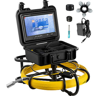 "100ft Pipe Inspection Camera HD 1200 TVL Drain Sewer Camera 9"" LCD Monitor"